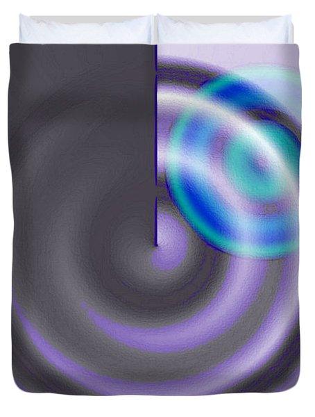 Targe Cool Blue Duvet Cover by Susan Baker