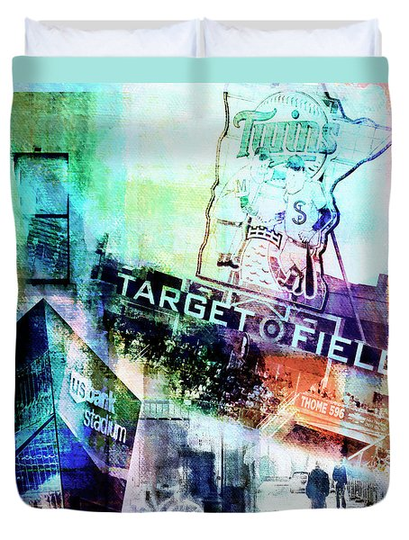 Target Field Us Bank Staduim  Duvet Cover by Susan Stone