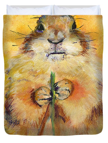 Target Duvet Cover by Pat Saunders-White