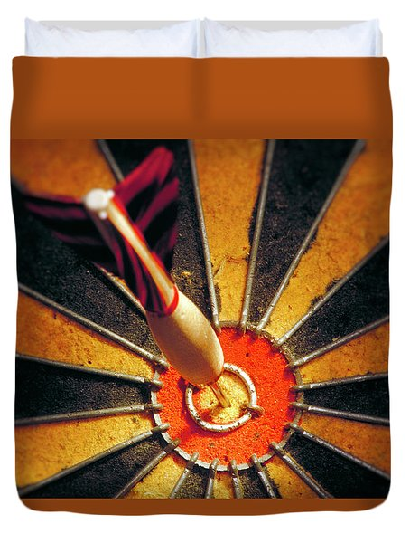 Duvet Cover featuring the painting Target by Sean McDunn