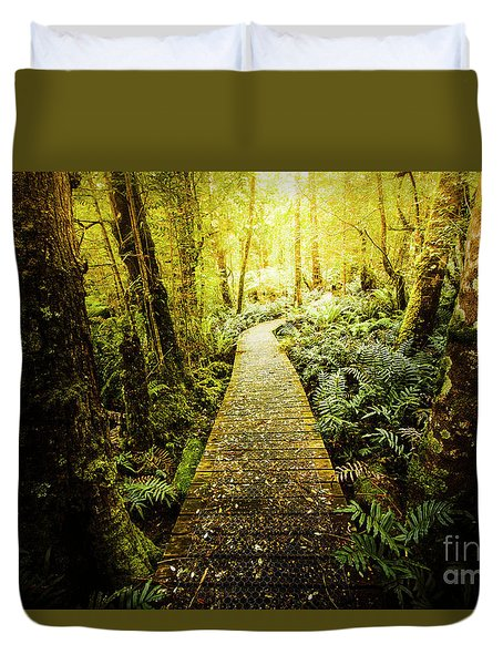Tarkine Tasmania Trails Duvet Cover