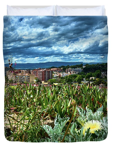 Tarragona From The Roman Wall Duvet Cover
