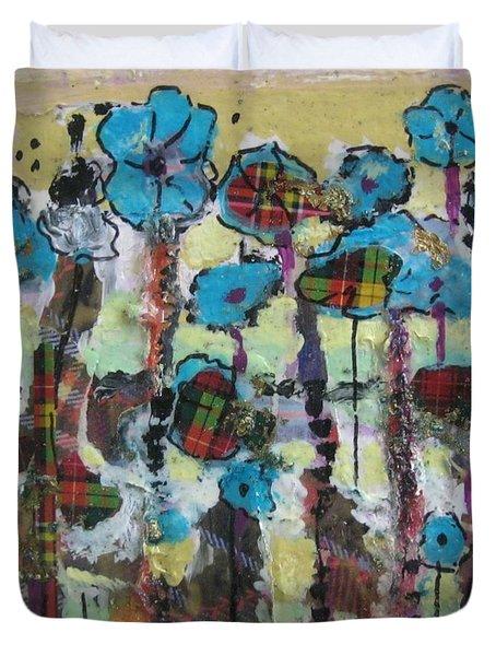 Tartan Garden Duvet Cover