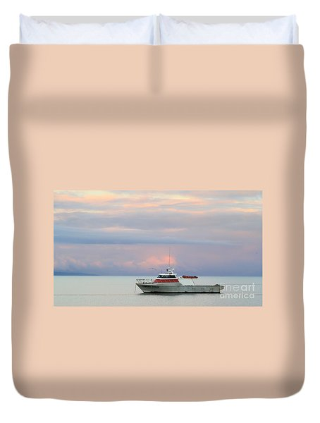 Duvet Cover featuring the photograph Tasha's Choice by Stephen Mitchell