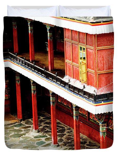 Tashilhunpo Monastery Shigatse Tibet Artmif.lv Duvet Cover