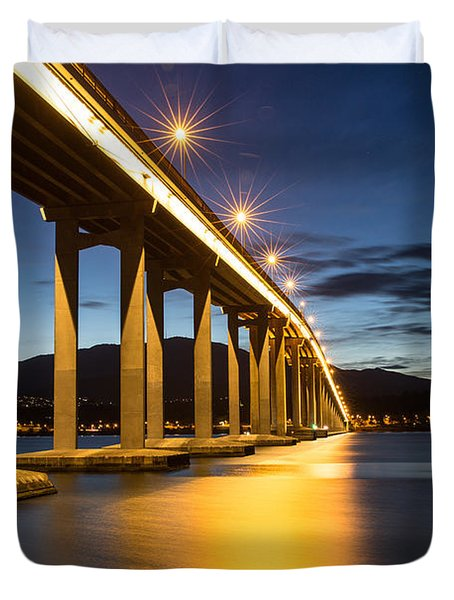 Tasman Bridge Duvet Cover