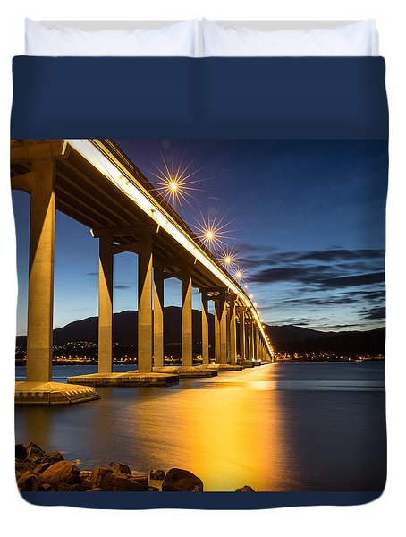Tasman Bridge Duvet Cover