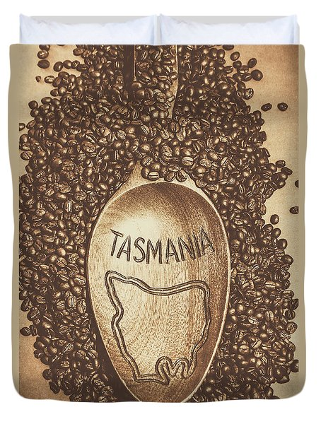 Duvet Cover featuring the photograph Tasmania Coffee Beans by Jorgo Photography - Wall Art Gallery