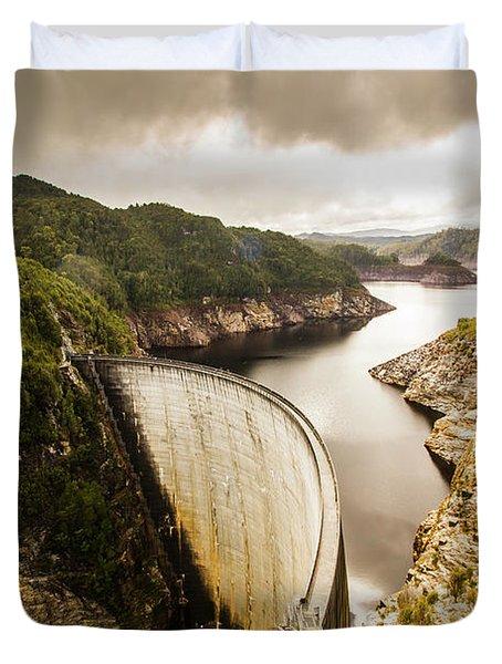 Tasmania Hydropower Dam Duvet Cover