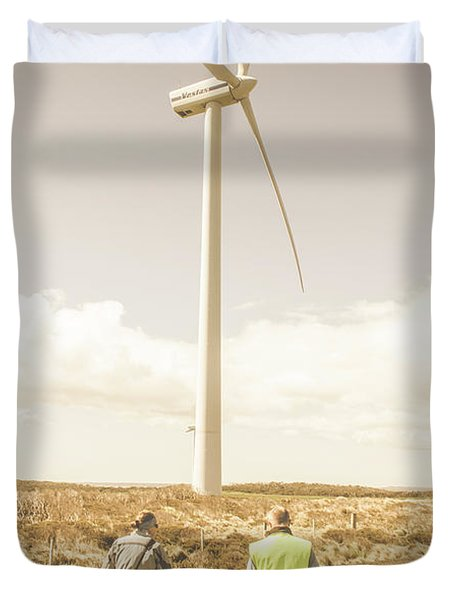 Tasmania Turbine Tours Duvet Cover