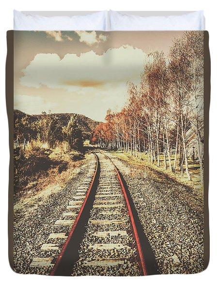 Tasmanian Country Tracks Duvet Cover
