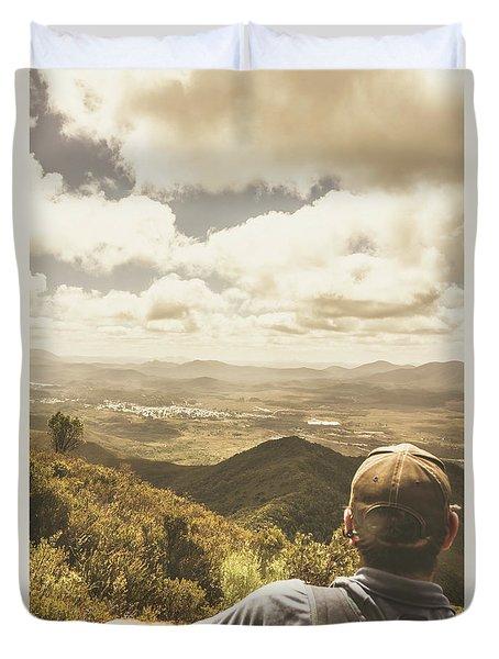 Tasmanian Hiking View Duvet Cover