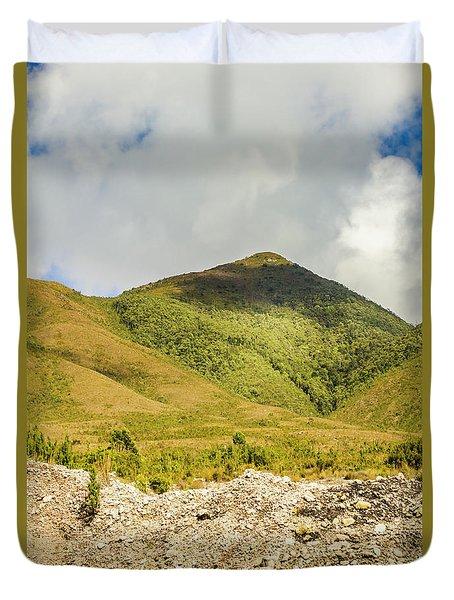 Tasmanian Mountains Duvet Cover