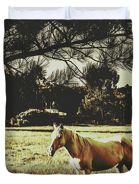 Tasmanian Rural Farm Horse Duvet Cover