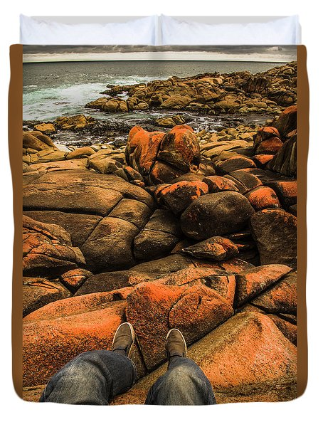 Tasmanian Tourist Kicking Back  Duvet Cover