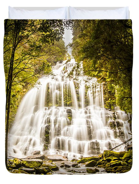 Tasmanian Waterfalls Duvet Cover