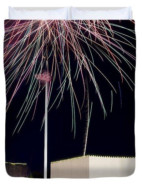 Taste Of Dallas 2015 Fireworks Duvet Cover