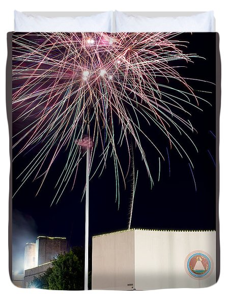 Taste Of Dallas 2015 Fireworks Duvet Cover