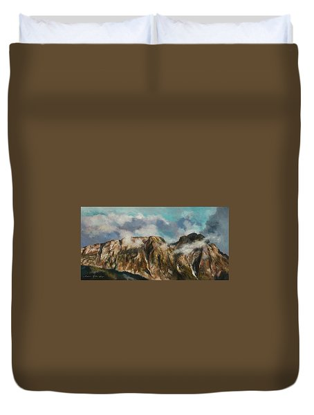 Tatry Mountains- Giewont Duvet Cover