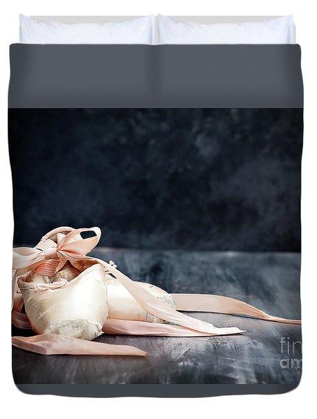 Tattered Ballerina Slippers Duvet Cover