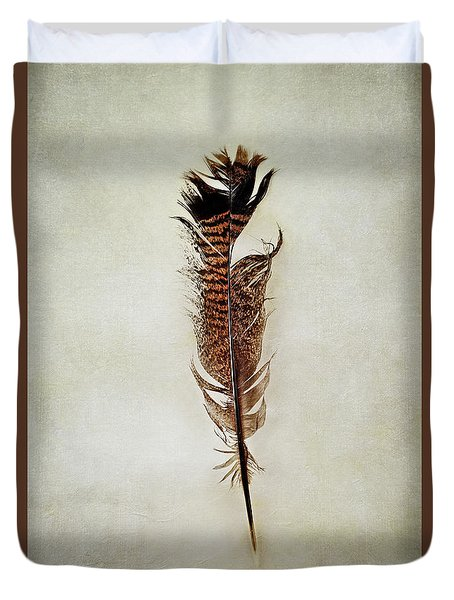 Tattered Turkey Feather Duvet Cover