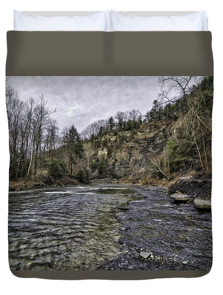 Taughannock Creek Duvet Cover