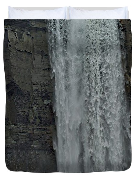 Taughannock Falls State Park Duvet Cover by Joseph Yarbrough
