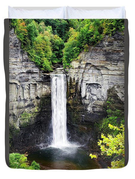 Taughannock Falls View From The Top Duvet Cover by Christina Rollo
