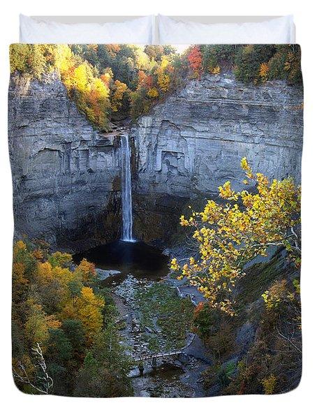 Duvet Cover featuring the photograph Taughannock Falls by Vilas Malankar