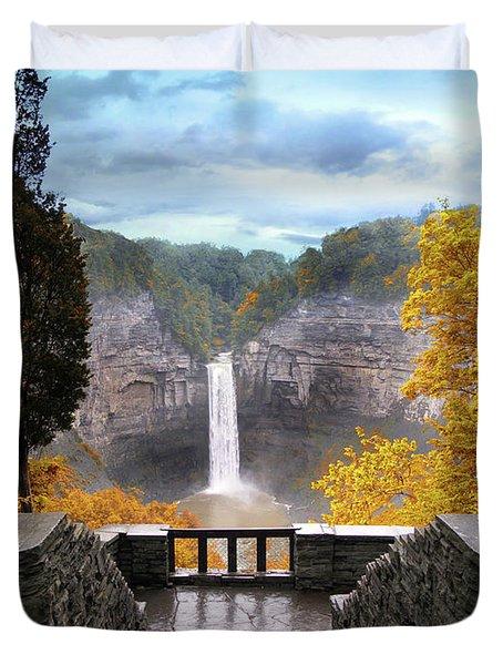Taughannock In Autumn Duvet Cover