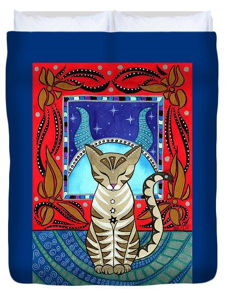 Taurus Cat Zodiac Duvet Cover