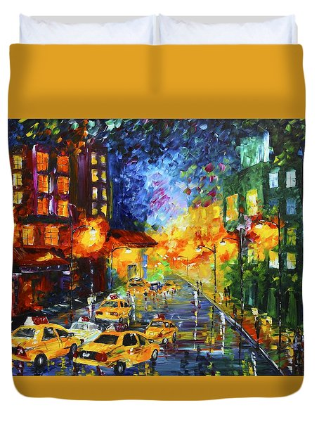 Taxi Cabs Duvet Cover