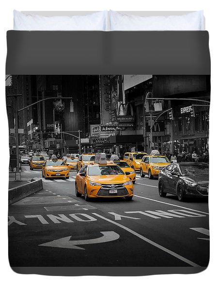 Taxi Please Duvet Cover