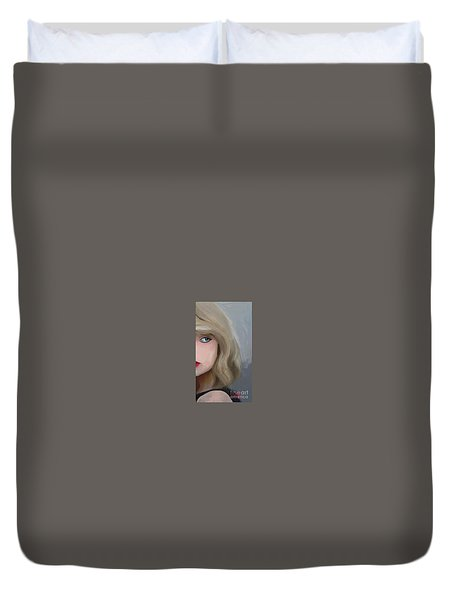 Taylor Swift  Duvet Cover by Barbara Stanley