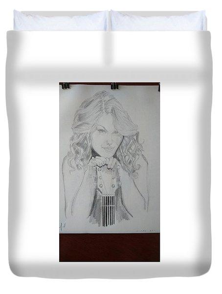 Taylor Swift Duvet Cover by Jiyad Mohammed nasser