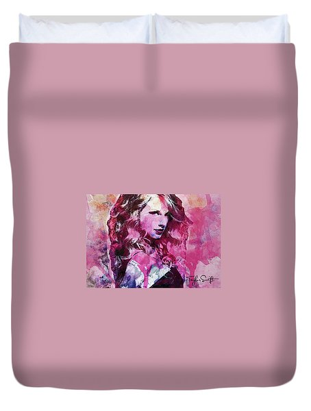 Taylor Swift - Oncore Duvet Cover by Sir Josef - Social Critic - ART