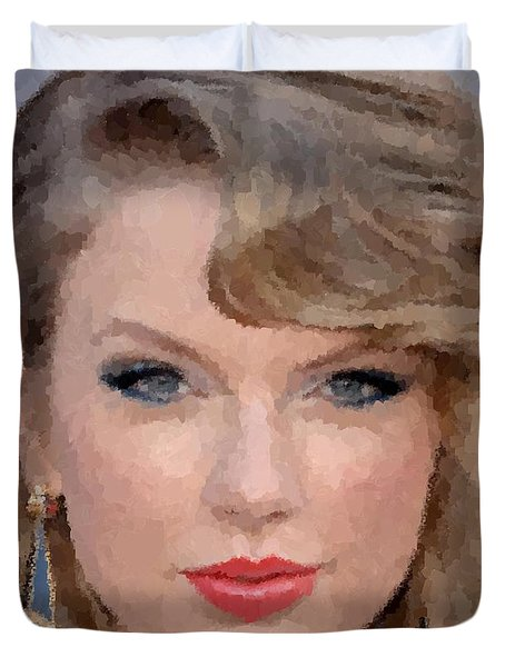 Taylor Swift Duvet Cover by Samuel Majcen