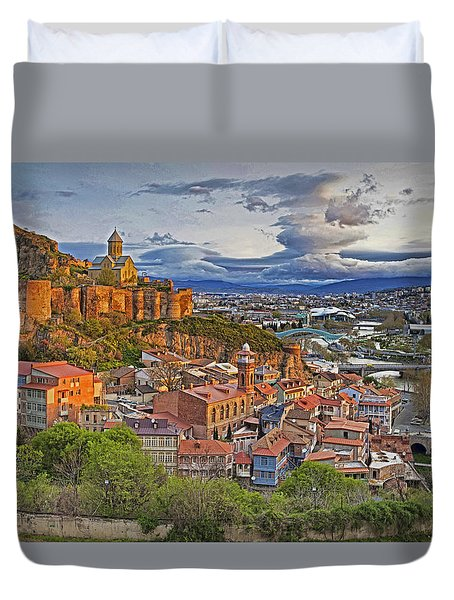 Tblisi Dawn Duvet Cover