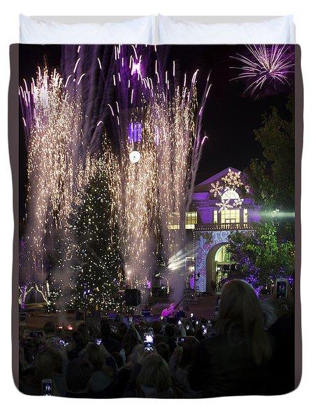 Tcu Christmas Tree Lighting Celebration Duvet Cover