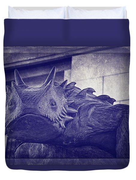 Tcu Horned Frog Purple Duvet Cover