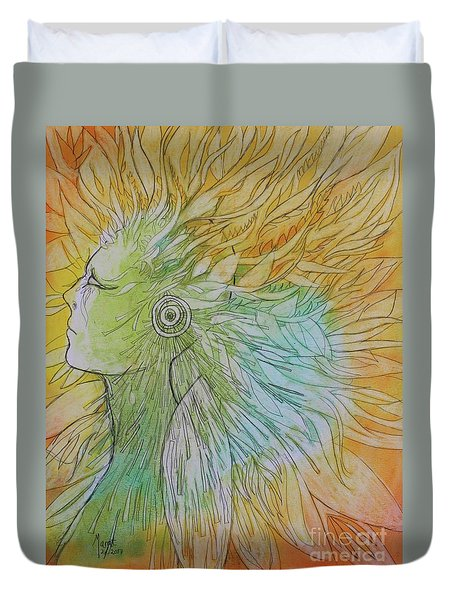 Te-fiti Duvet Cover by Marat Essex