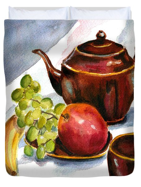 Tea And Fruit Duvet Cover