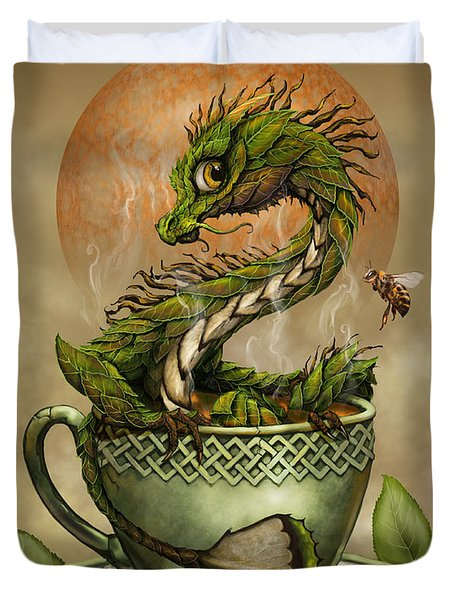 Tea Dragon Duvet Cover
