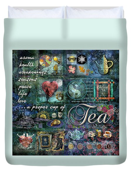 Tea Duvet Cover