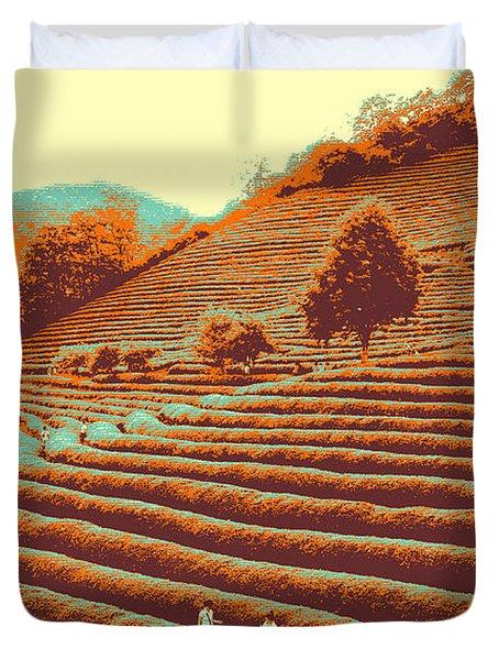 Tea Field Duvet Cover