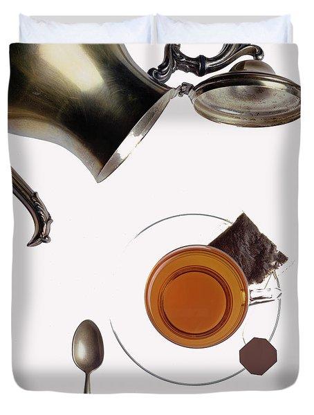 Tea For One Duvet Cover