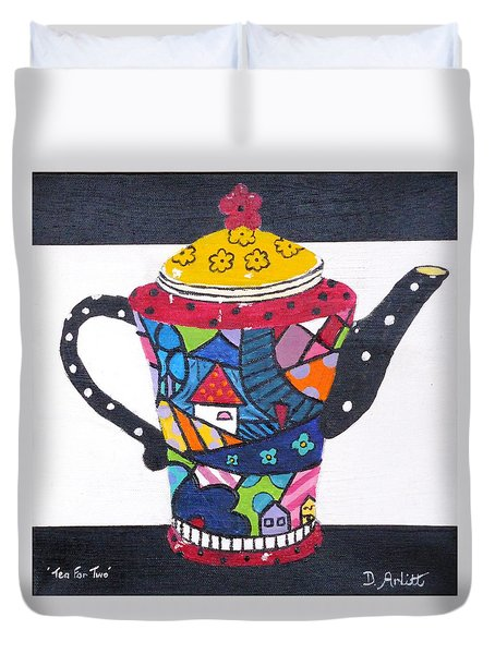 Tea For Two Duvet Cover