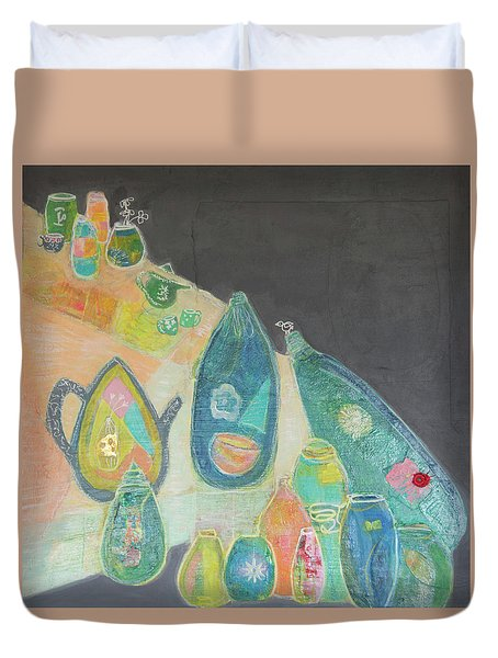 Tea For Two Too Duvet Cover