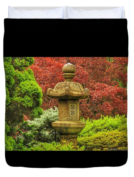 Tea Garden Duvet Cover