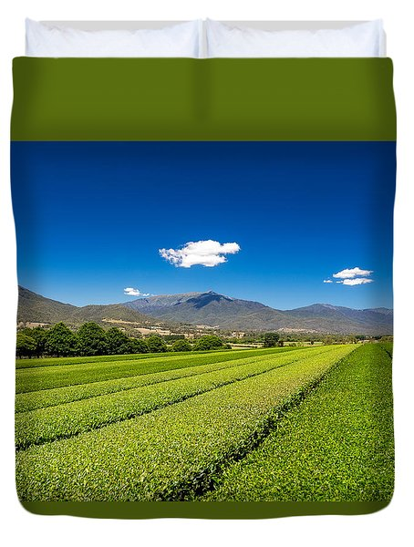 Tea In The Valley Duvet Cover by Mark Lucey